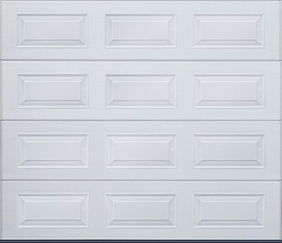 Cardale Carteck insulated steel sectional garage door in white