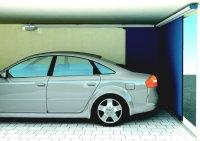 Vertico round the corner insulated aluminium garage door